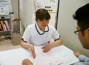 入院の説明と検査